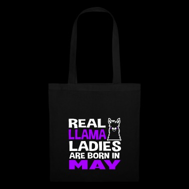 Llama Ladies Born in May - Bolsa de tela