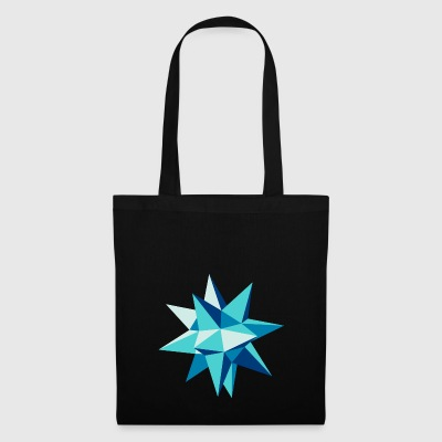 3-D star Christmas origami geometry hipster - Tote Bag