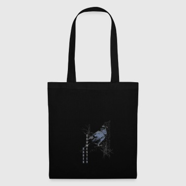 Raven blue and white on black - Tote Bag