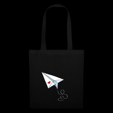 Paper Airplane With Heart - Love - Travel - Flying - Tote Bag