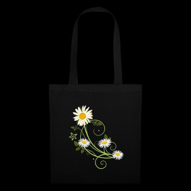 Tendril with marguerite and daisies - Tote Bag