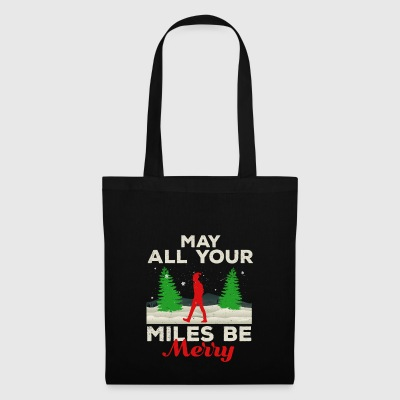May all your Miles Be Merry Running Gift Gift - Tote Bag