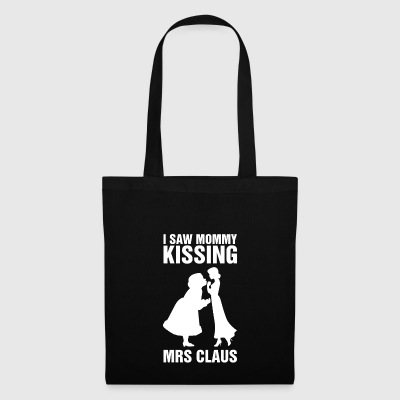 J'ai vu maman embrasser Mme Claus Bisexuel Xmas Pride - Tote Bag