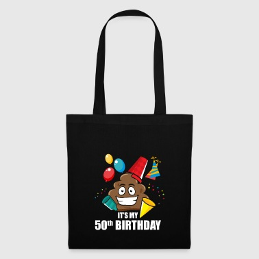 Poop emoticon regalo di compleanno 50 ° compleanno IT - Borsa di stoffa