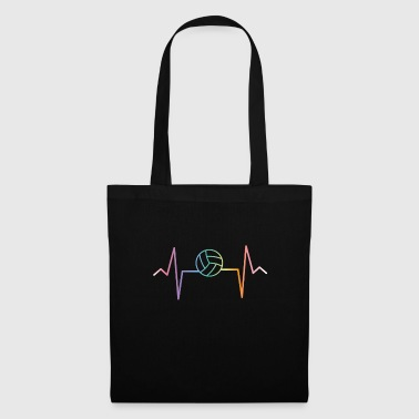 Volleyball - Heartbeat - Pulse - Beachball - Tote Bag