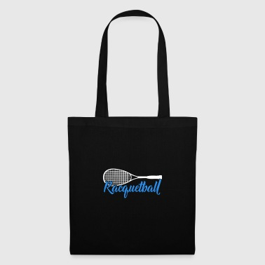 Racquetball blue font gift - Tote Bag