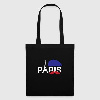 Paris Mustache Eiffel Tower French Hat France Cool - Tote Bag
