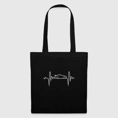 Hobby voiture Heartbeat cadeau - Tote Bag