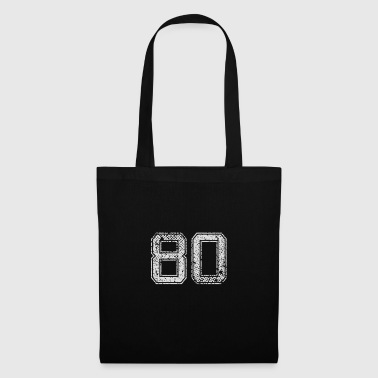Number 80 Number Eighty Eight Zero gift - Tas van stof