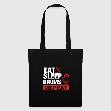Eat Sleep Drums Repeat - Schlagzeug - Stoffbeutel
