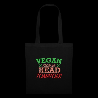 Vegan from my Head Tomatos Shirt - Tote Bag