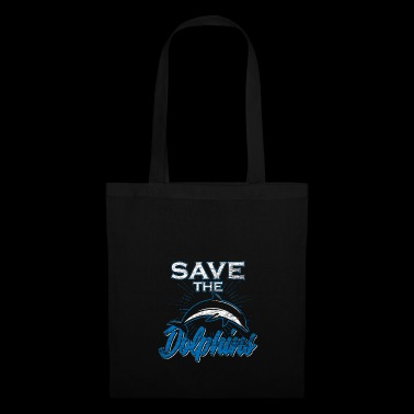 Dolphin Save the Dolphins Regalo Ocean Water - Borsa di stoffa