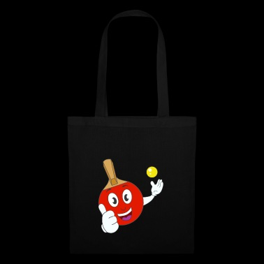 red comic table tennis racket Gift idea - Tote Bag