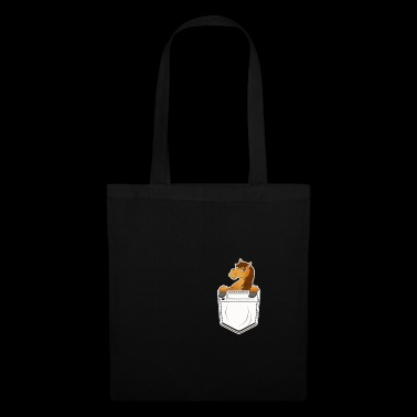 Horse chest pocket gift cartoon kawaii rider - Tote Bag