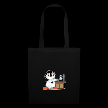 Penguin comic scientist chimie biologie - Tote Bag