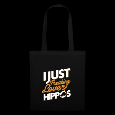 I just freaking love hippos - Tote Bag
