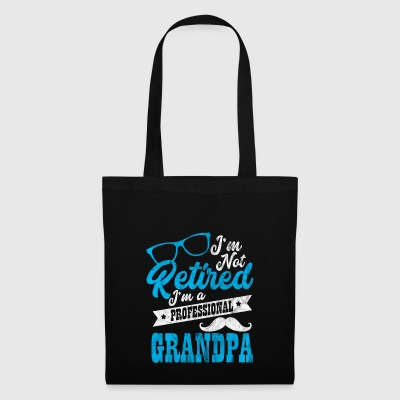Shirt for pensioners as a gift - professional grandpa - Tote Bag