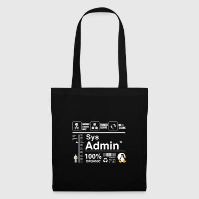 Sys admin penguin computer nerd pc board cpu inh - Tote Bag