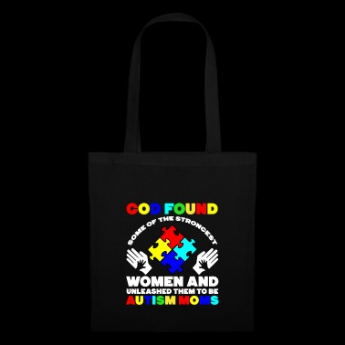 God Found Autism Moms t-shirt - Tas van stof