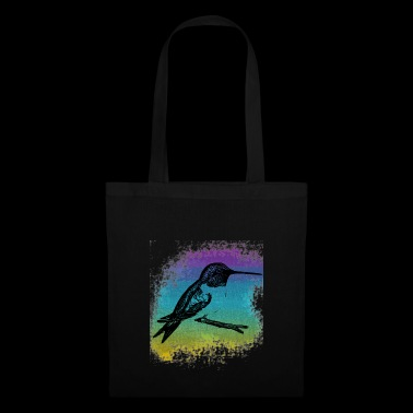 Subtle Hummingbird in front of colorful background - Tote Bag