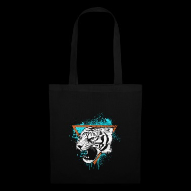 Tiger gift cat predator animal meow - Tote Bag