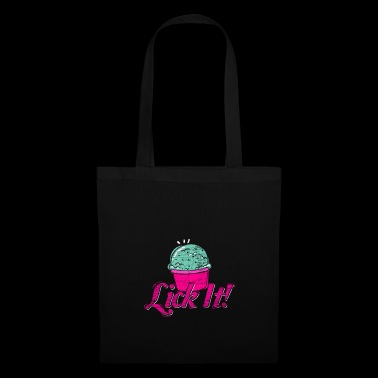Ice licking soft ice cream gift idea summer spring - Tote Bag