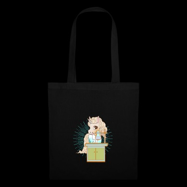 Unicorn cartoon scientist chimie biologie - Tote Bag