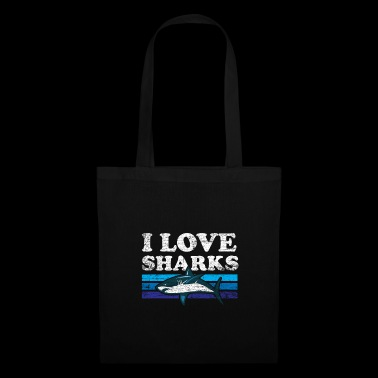 I love sharks - fish gift sea creatures - Tote Bag