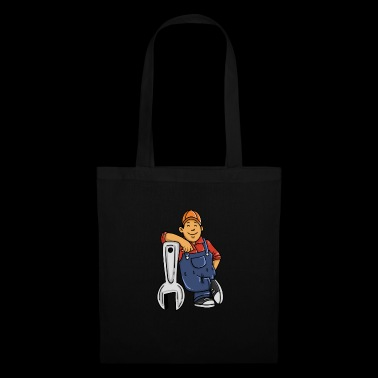 Mécanicien souriant carrière wrench ge - Tote Bag