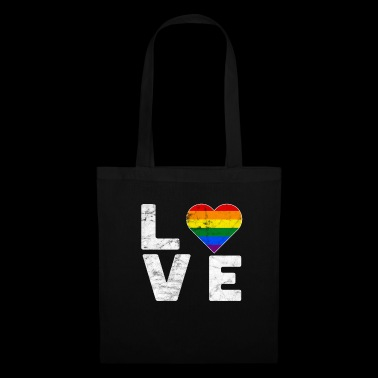 LGBT Pride Rainbow Color Love Heart Gay Pride - Tote Bag