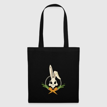 Skull and Crossbones Easter Bunny with Carrots - Stoffbeutel