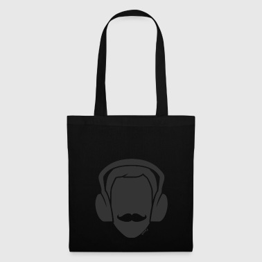 Dj Moustache (H) - Tote Bag