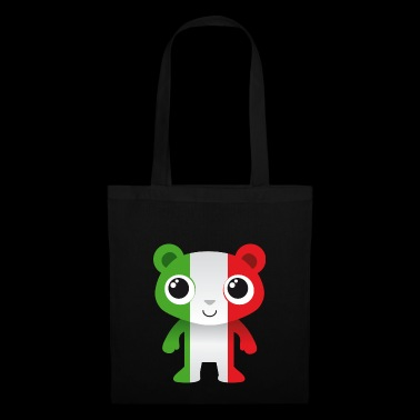 Bear in colors of the Italian flag / coat of arms - Tote Bag