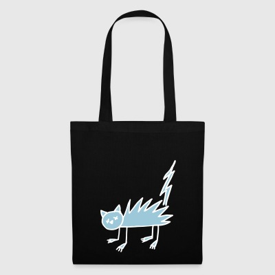 Cat Halloween Zombie Undead flash Bicolor - Tote Bag