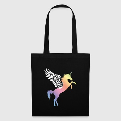 flying unicorn rainbow - Stoffbeutel