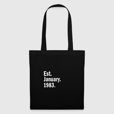 Est January 1983 - Tote Bag
