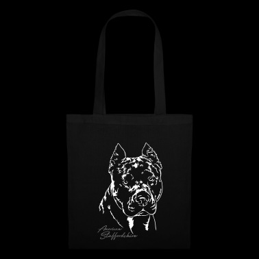 AMERICAN STAFFORDSHIRE Portrait Wilsigns - Tote Bag