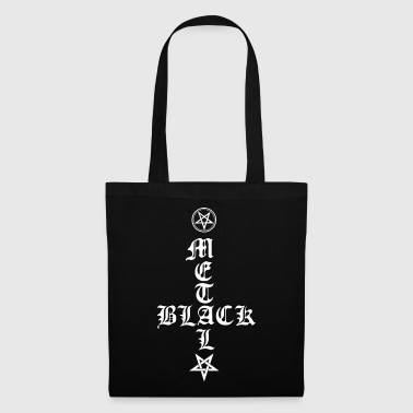 Black Metal - Upside Down Croce con Pentagram - Borsa di stoffa