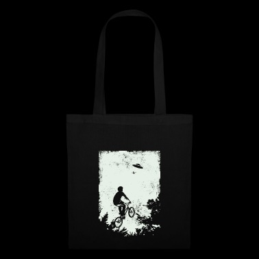 BMX freestyle rider UFO alien - Tote Bag