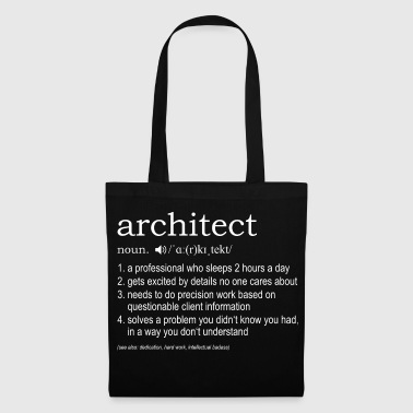 Architect definition - Tote Bag