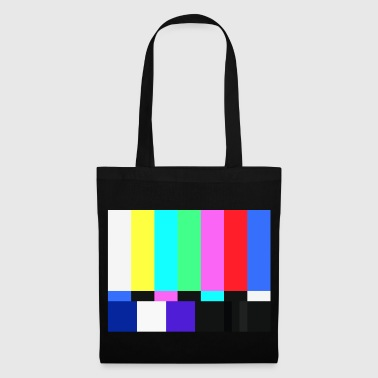 Test Card.Test Pattern. Retro Crew.SALE TV - Borsa di stoffa