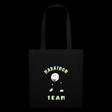 Marathon Team - Runner Stick Figure - Tote Bag