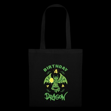 Dragon Dragon Gift 4th Birthday Shirt Boy - Tote Bag