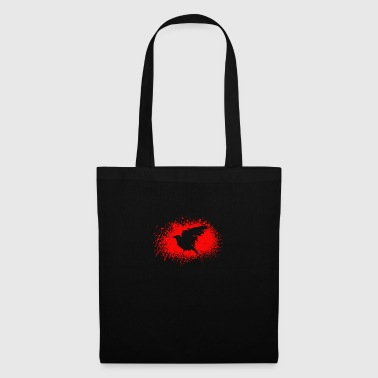 Halloween blood crow illustration of crow image - Tote Bag