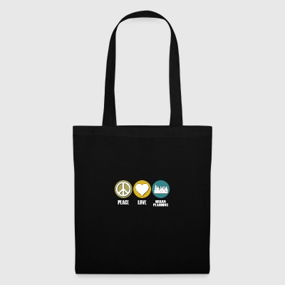 Peace love urban planning - Tote Bag