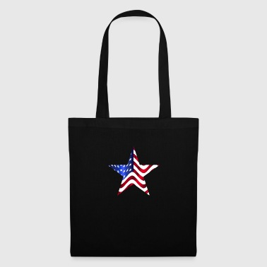 USA America Flag Stars and Stripes Star - Tas van stof