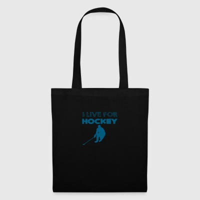 Hockey: Io vivo per l'hockey - Borsa di stoffa