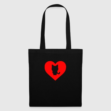 Coeur de chat - Tote Bag