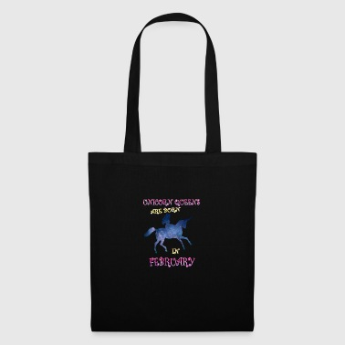 Unicorn queens are born in february - Tote Bag