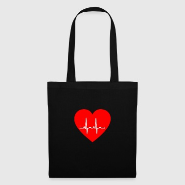 Heart with pulse - Tote Bag